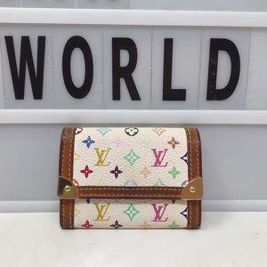 Louis Vuitton Multicolore Murakami Coin purse case